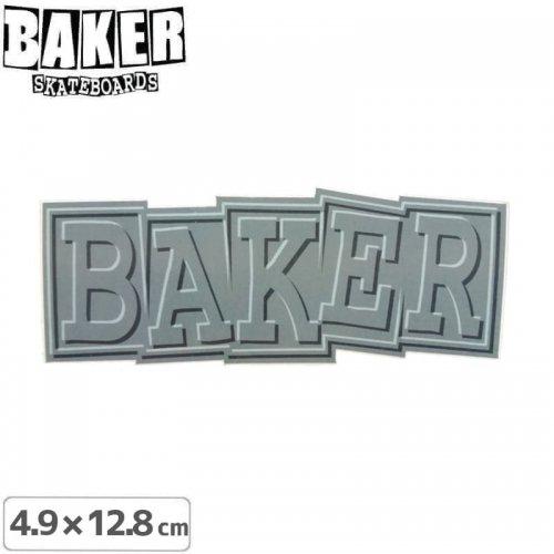 【ベーカー スケボー ステッカー】BAKER RIBBON STICKER 4.9cm×12.8cm グレー NO80
