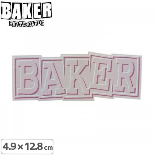 【ベーカー スケボー ステッカー】BAKER RIBBON STICKER 4.9cm×12.8cm パープル NO81
