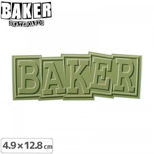 【ベーカー スケボー ステッカー】BAKER RIBBON STICKER 4.9cm×12.8cm グリーン NO82