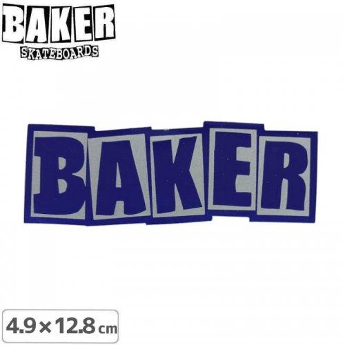 【ベーカー スケボー ステッカー】BAKER LOGO STICKER 4.9cm×12.8cm ブルー NO84