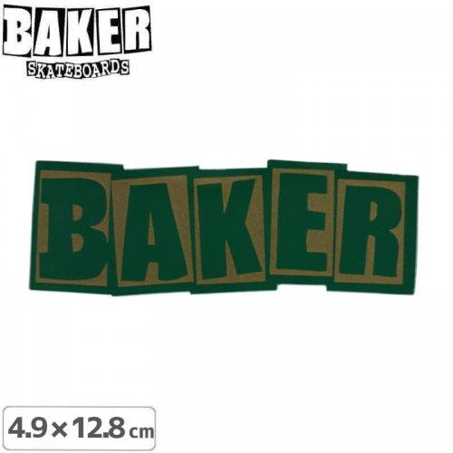【ベーカー スケボー ステッカー】BAKER LOGO STICKER 4.9cm×12.8cm グリーン NO85