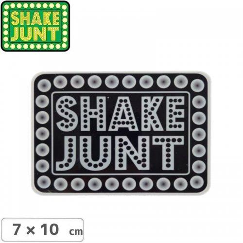 【シェークジャント SHAKE JUNT STICKER ステッカー】BOX LOGO STICKER 7 x 10cm ブラック NO54