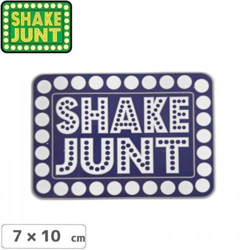 【シェークジャント SHAKE JUNT STICKER ステッカー】BOX LOGO STICKER 7 x 10cm ブルー NO55