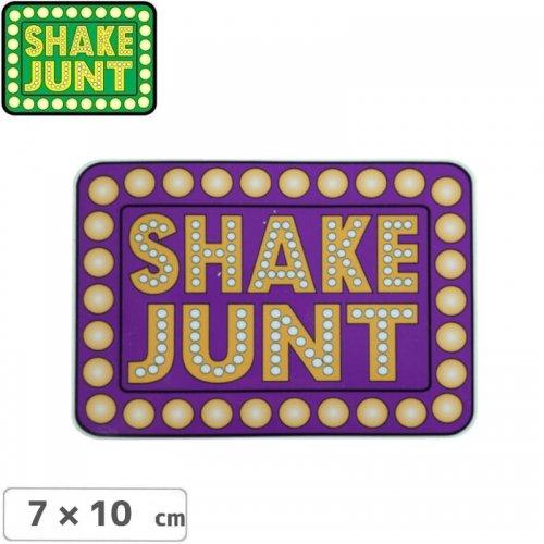 【シェークジャント SHAKE JUNT STICKER ステッカー】BOX LOGO STICKER 7 x 10cm パープル NO56