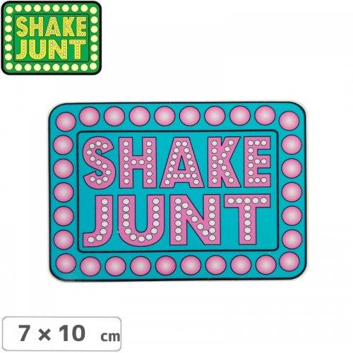 【シェークジャント SHAKE JUNT STICKER ステッカー】BOX LOGO STICKER 7 x 10cm ピンク NO57