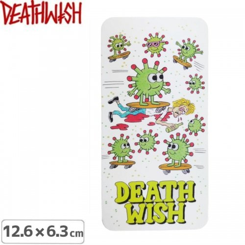 【DEATHWISH デスウィッシュ スケボー ステッカー】KIRBY QUARANTINE STICKER 12.6 x 6.3cm NO150