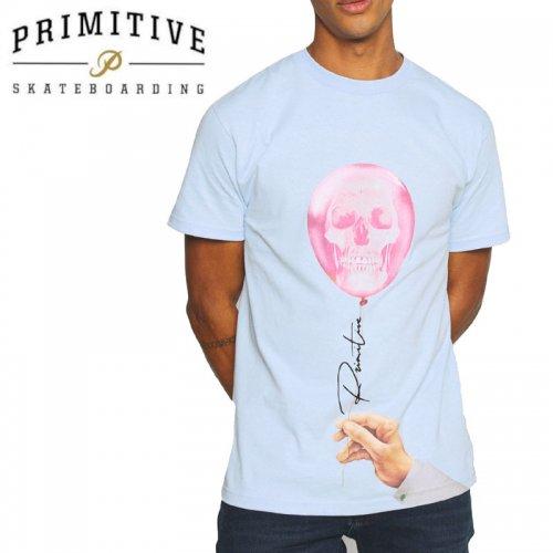 【PRIMITIVE プリミティブ スケボー Tシャツ】DAY TRIP TEE【パウダーブルー】NO32
