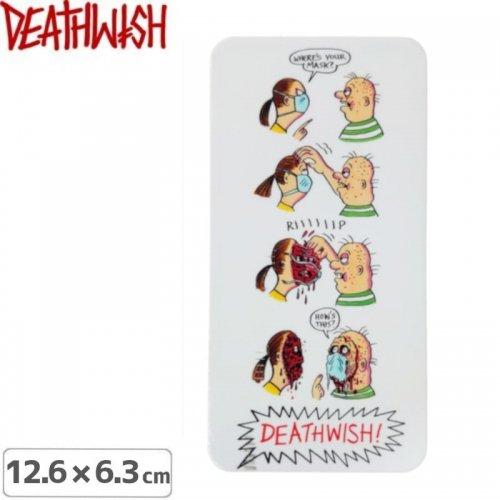 【DEATHWISH デスウィッシュ スケボー ステッカー】HAYES QUARANTINE STICKER 12.6 x 6.3cm NO152