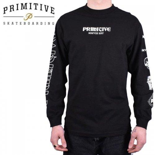 【PRIMITIVE プリミティブ スケボー ロング Tシャツ】FOUNDERS L/S TEE【ブラック】NO24