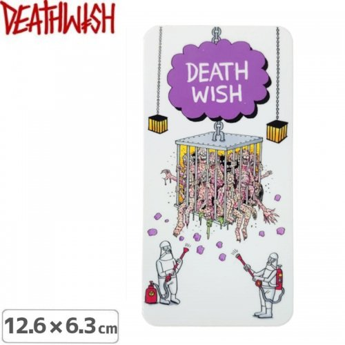 【DEATHWISH デスウィッシュ スケボー ステッカー】DELFINO QUARANTINE STICKER 12.6 x 6.3cm NO153