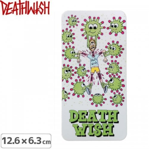 【DEATHWISH デスウィッシュ スケボー ステッカー】DICKSON QUARANTINE STICKER 12.6 x 6.3cm NO154