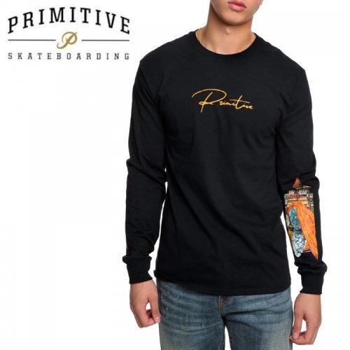 【PRIMITIVE プリミティブ スケボー ロング Tシャツ】VOYAGER L/S TEE【ブラック】NO25