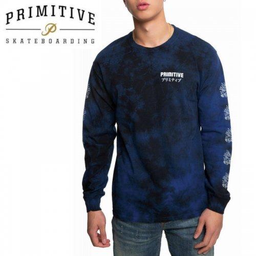 【PRIMITIVE プリミティブ スケボー ロング Tシャツ】DANASTY L/S TEE【ネイビー】NO26