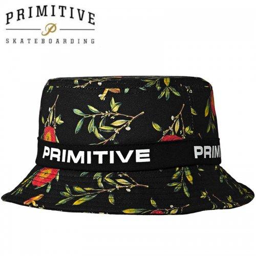 【PRIMITIVE プリミティブ スケボー ハット】PRIMITIVE プリミティブ スケボー ハット HORTICULTURE BUCKET HAT ブラック NO12