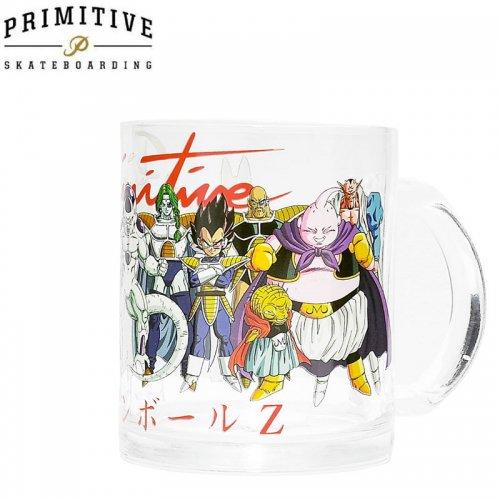 【PRIMITIVE プリミティブ スケボー マグカップ】DBZ VILLAINS MUG ドラゴンボールコラボ【クリアガラス】NO2