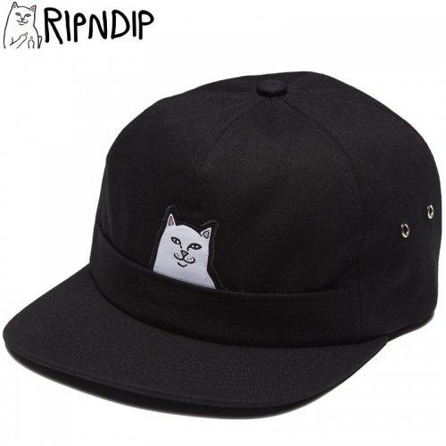 【RIPNDIP リップンディップ スケボー キャップ】LORD NERMAL 6PANEL POCKET HAT ブラック NO1