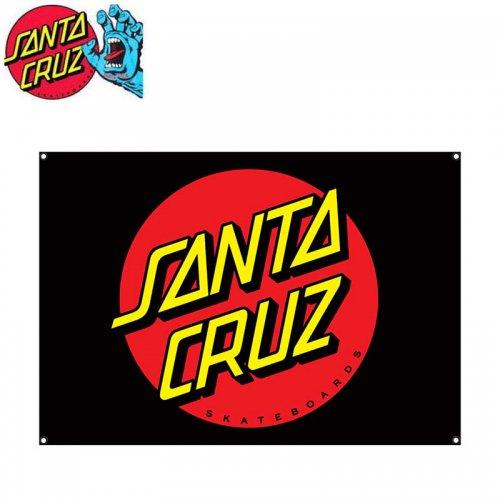 【サンタクルーズ SANTA CRUZ スケボー スケートボード 旗】DOT FLAG ブラック BANNER 81cm×116cm NO2