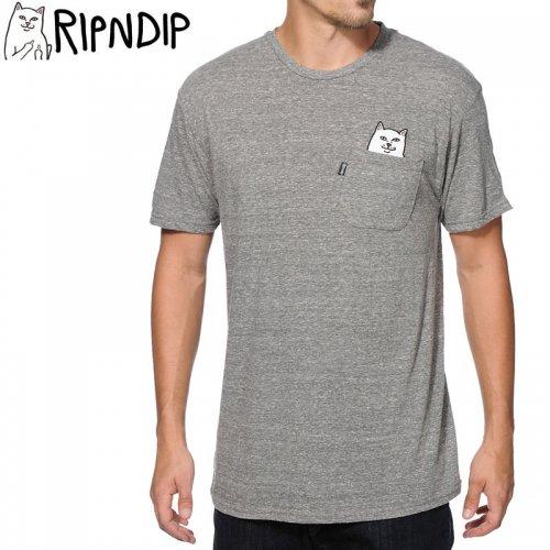 【RIPNDIP リップンディップ スケートボード Tシャツ】LORD NERMAL POCKET TEE【アスレチックグレー】NO1