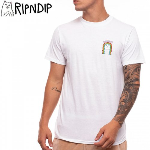 【RIPNDIP リップンディップ スケートボード Tシャツ】GROOVY NERM TEE【ホワイト】NO3