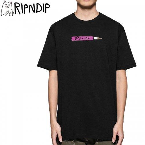 【RIPNDIP リップンディップ スケートボード Tシャツ】ROSS TEE【ブラック】NO4