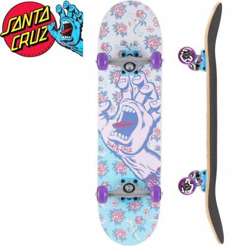 【サンタクルーズ SANTA CRUZ スケートボード コンプリート】FLORAL DECAY HAND MINI COMPLETE 95A【7.75インチ】スクリーミングハンド NO88