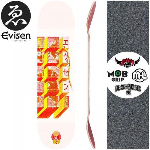 【EVISEN エビセン スケートボード デッキ】WORLD HALL DECK【8.0インチ】【8.125インチ】【8.25インチ】【8.5インチ】NO50