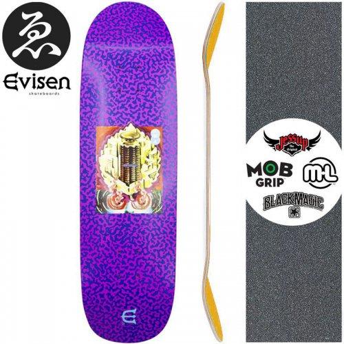 【EVISEN エビセン スケートボード デッキ】CLUB WITH PURPLE DECK【8.8インチ】オールドスクール NO52