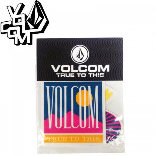 【ボルコム VOLCOM ステッカー】SOLARIZED STICKER PACK【6枚入り】NO400