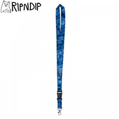 【RIPNDIP リップンディップ ストラップ】NERM CAMO LANYARD ブルー NO1