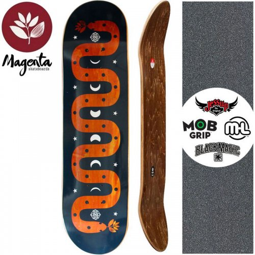 【マゼンタ MAGENTA スケートボード デッキ】MAGIC SNAKE DECK【7.75インチ】【8.125インチ】オレンジ NO74