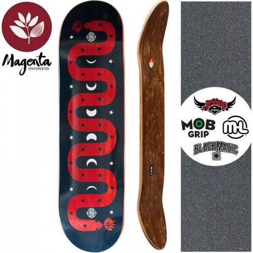 【マゼンタ MAGENTA スケートボード デッキ】MAGIC SNAKE DECK【7.75インチ】【8.125インチ】レッド NO75