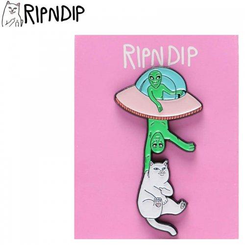 【RIPNDIP リップンディップ スケボー ピンバッジ】ABDUCTION PIN 5cm×3cm NO3