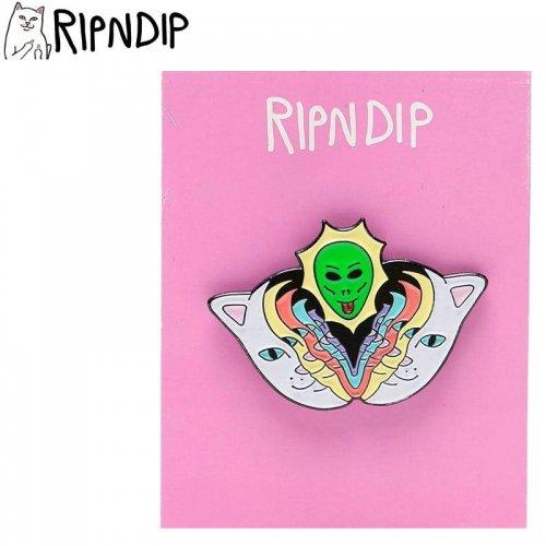 【RIPNDIP リップンディップ スケボー ピンバッジ】SPLITTING HEADS PIN 2.5cm×4cm NO6