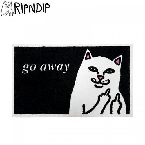 【RIPNDIP リップンディップ マット】GO AWAY RUG MAT ブラック NO1