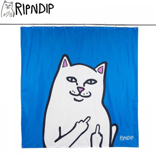 【RIPNDIP リップンディップ スケボー シャワーカーテン】LORD NERMAL SHOWER CURTAIN ブルー NO12