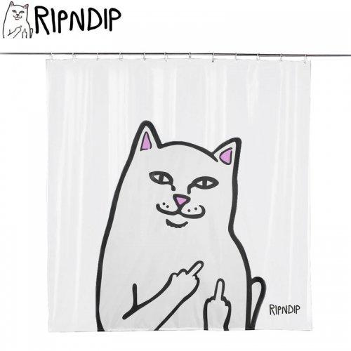 【RIPNDIP リップンディップ スケボー シャワーカーテン】LORD NERMAL SHOWER CURTAIN クリア NO13