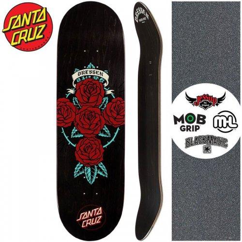 【サンタクルーズ SANTA CRUZ スケートボード デッキ】DRESSEN ROSE CROSS POWERPLY DECK【9.0インチ】NO179