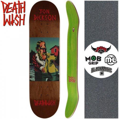 【デスウィッシュ DEATH WISH スケートボードデッキ】DICKSON THE POND DECK【8.0インチ】ブラウン NO126