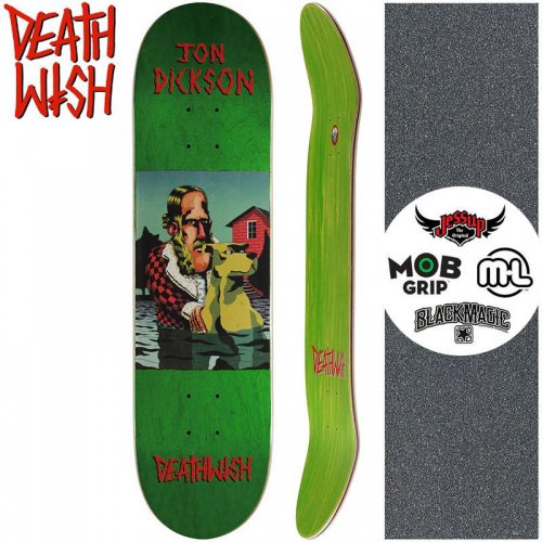 【デスウィッシュ DEATH WISH スケートボードデッキ】DICKSON THE POND DECK【8.0インチ】グリーン NO127