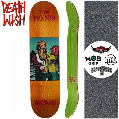 【デスウィッシュ DEATH WISH スケートボードデッキ】DICKSON THE POND DECK【8.0インチ】オレンジ NO128