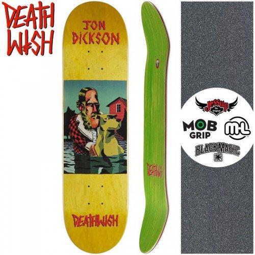 【デスウィッシュ DEATH WISH スケートボードデッキ】DICKSON THE POND DECK【8.0インチ】イエロー NO130