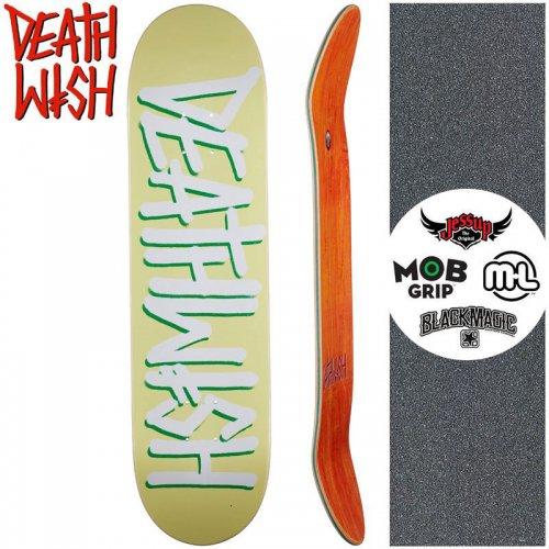 【デスウィッシュ DEATH WISH スケートボードデッキ】DEATHSPRAY PALE YELLOW DECK 【8.0インチ】NO134