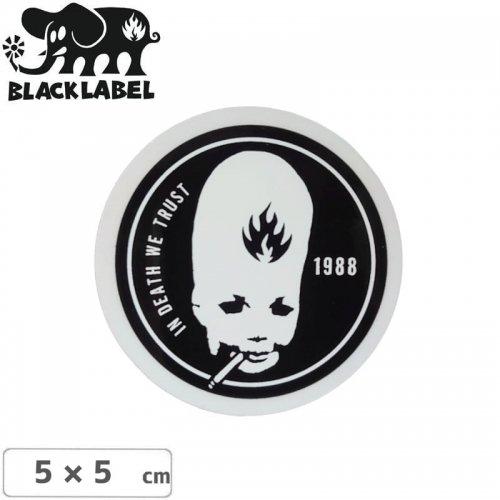 【BLACK LABEL ブラックレーベル ステッカー】THUMBHEAD STICKER【5cm x 5cm】ブラック NO63