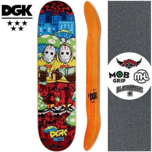 【ディージーケー DGK スケートボード デッキ】GHETTO LAND ORTIZ DECK【8.06インチ】NO340