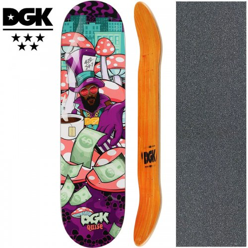 【ディージーケー DGK スケートボード デッキ】GHETTO LAND QUISE DECK【8.1インチ】NO344