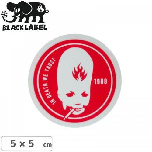 【BLACK LABEL ブラックレーベル ステッカー】THUMBHEAD STICKER【5cm x 5cm】レッド NO64