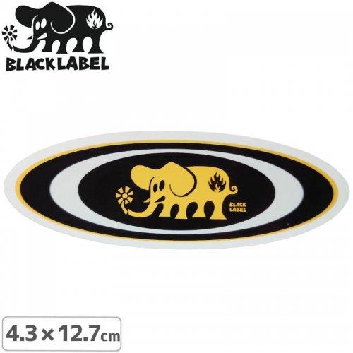 【BLACK LABEL ブラックレーベル ステッカー】OVAL ELEPHANT STICKER【4.3 x 12.7cm】ブラック NO65