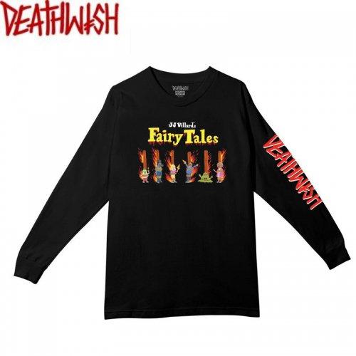 【デスウィッシュ DEATHWISH スケボー ロングTシャツ】FAIRY TALES LONGSLEEVE TEE【ブラック】NO4