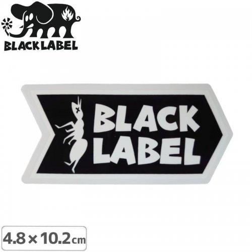 【BLACK LABEL ブラックレーベル ステッカー】ANT LOGO STICKER【4.8 x 10.2cm】ブラック NO68