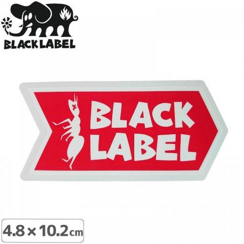 【BLACK LABEL ブラックレーベル ステッカー】ANT LOGO STICKER【4.8 x 10.2cm】レッド NO70